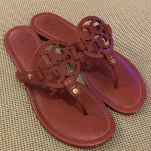 Tory Burch vintage vachetta Miller sandals sz 8